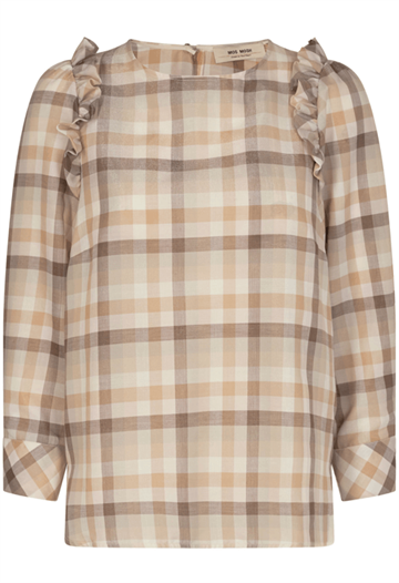 Mos Mosh Gurith Check Blouse - Toasted Cocount